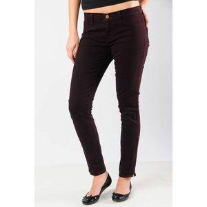 J Brand mid rise skinny leg jeans burgundy pinot